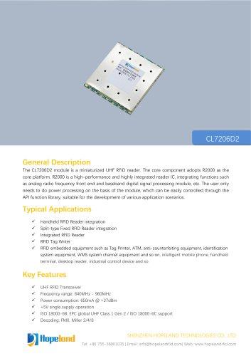 CL7206D2 2-port RFID Module_datasheet