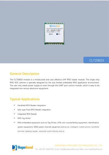 CL7206D3 1-port RFID Module_datasheet