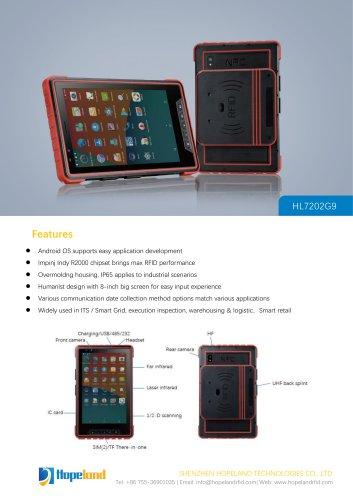 "HL7202G9 8"" RFID TABLET PC_datasheet"