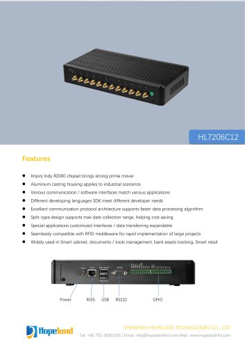 HL7206C12 12-Port Reader_datasheet