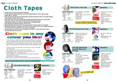 Cloth Tapes (