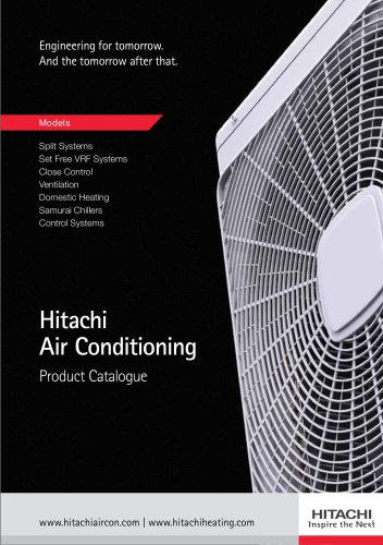 Hitachi Air Conditioning Product Catalogue