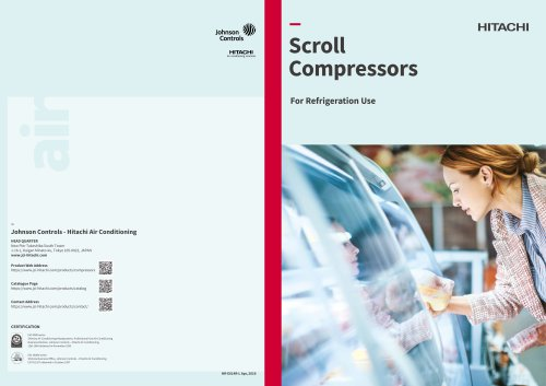 Scroll Compressor for Refrigeration applications