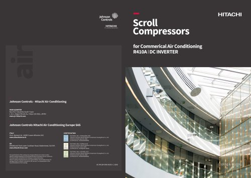 Scroll Compressors for Commercial Air Conditioning