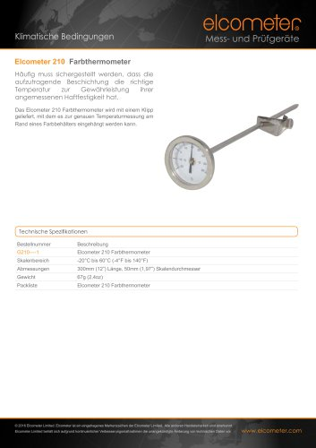 Elcometer 210 Farbthermometer