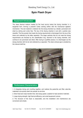 Tianli/Spin Flash Dryer