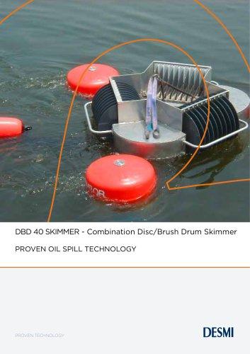 DBD 40 SKIMMER - Combination Disc/Brush Drum Skimmer