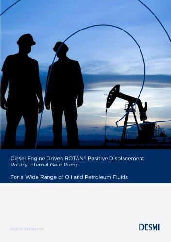Diesel Engine Driven ROTAN® Positive Displacement Rotary Internal Gear Pump