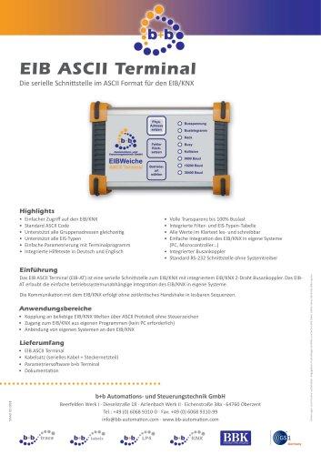 EIB ASCII Terminal seriell  (Kompaktgehäuse)