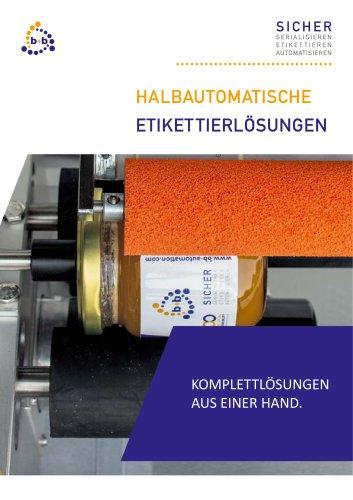 Halbautomatische Etikettiersysteme