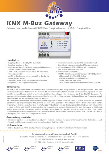 KNX M-Bus Gateway (REG)