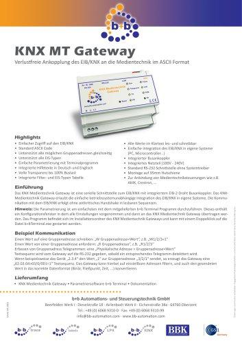 KNX Medientechnik Gateway (REG)