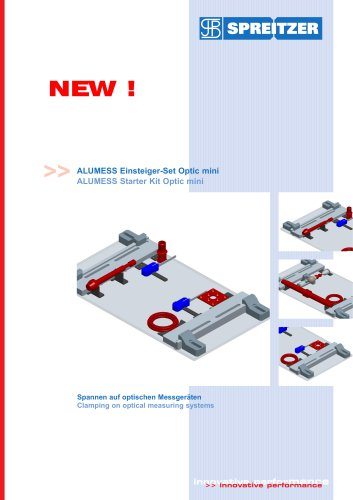 ALUMESS Optic clamping fixture for optical measuring machines
