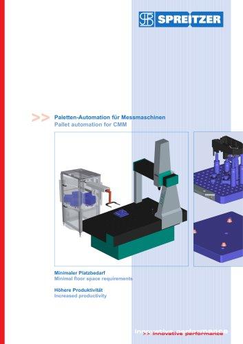 Paletten-Automation für Messmaschinen