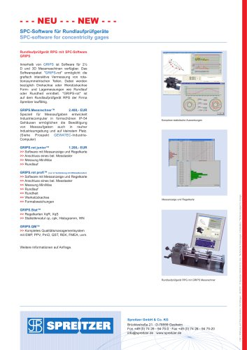 SPC-Software for concentricity gages