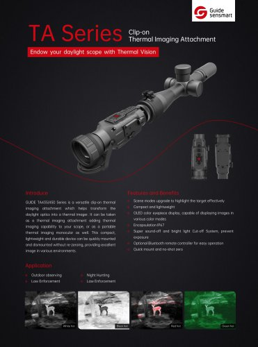 Guide TA425 Clip-on Thermal Imaging Attachment