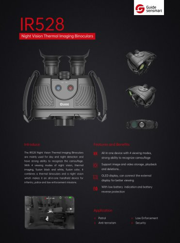 IR528 Night Vision Thermal Imaging Binoculars