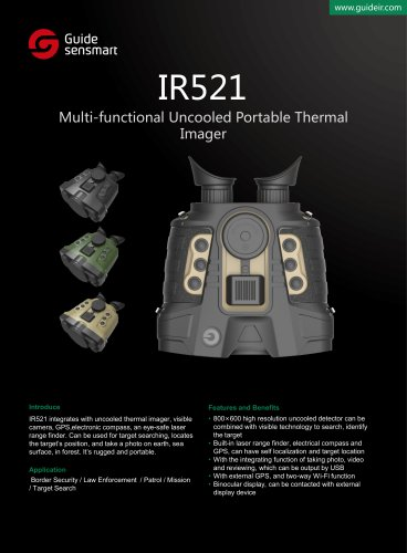 Stand-alone vision system GUIDE IR521