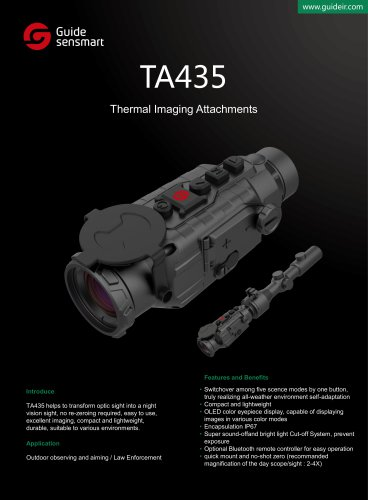 Thermal imaging system GUIDE TA435