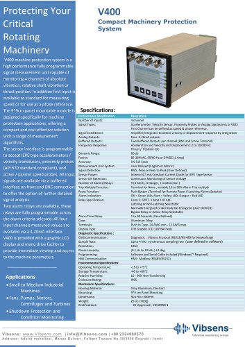 V400 Compact Machinery Protection System