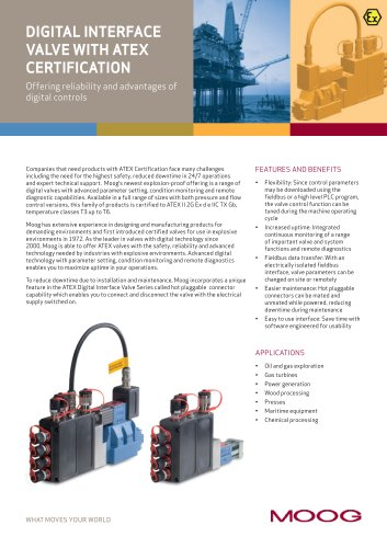 Digital Interface Valve with Atex Certification