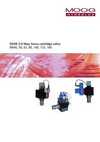 DSHR 2/2-Way Servo cartridge valve NB40, 50, 63, 80, 100, 125, 160