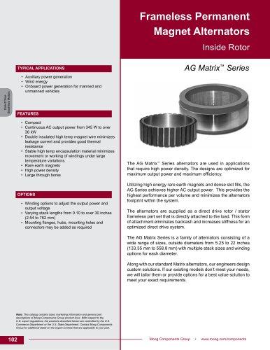 Frameless Permanent  Magnet Alternators Inside Rotor