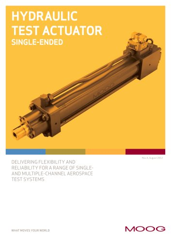 HYDRAULIC TEST ACTUATOR SINGLE-ENDED