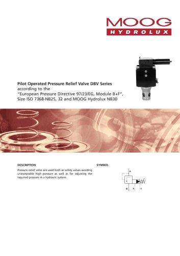 Pilot Operated Pressure Relief Valve DBV Series