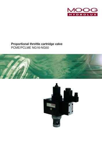 Proportional throttle cartridge valve PCME/PCLME NG16-NG50