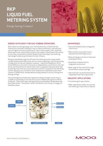 RKP LIQUID FUEL METERING SYSTEM