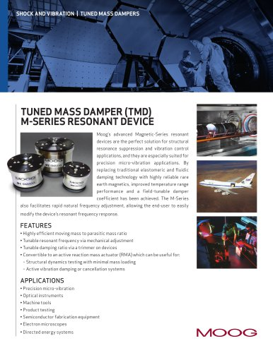 SHOCK AND VIBRATION | TUNED MASS DAMPERS