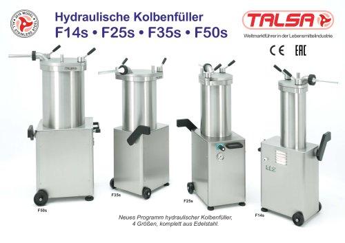 Hydraulische Kolbenfüller F14s • F25s • F35s • F50s