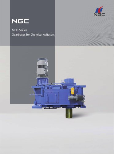 NGC - China Transmission MHS Series Gearboxes for Chemical Agitators