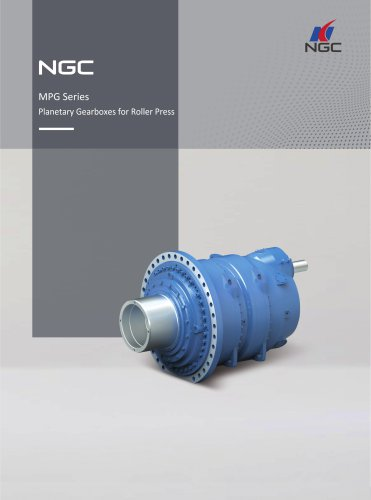 NGC Planetary Gearboxes for Roller Press MPG series