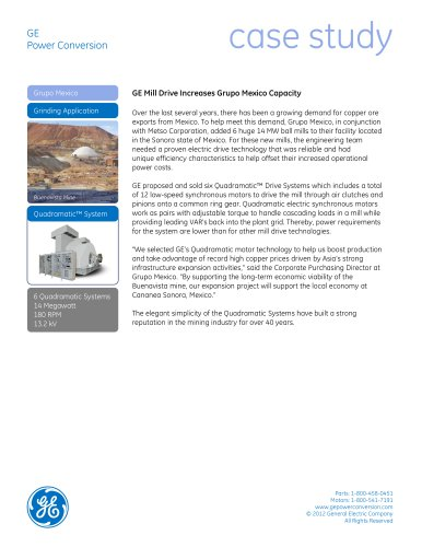 GE Mill Drive Increases Grupo Mexico Capacity