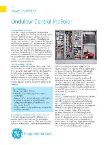 Onduleur Central ProSolar