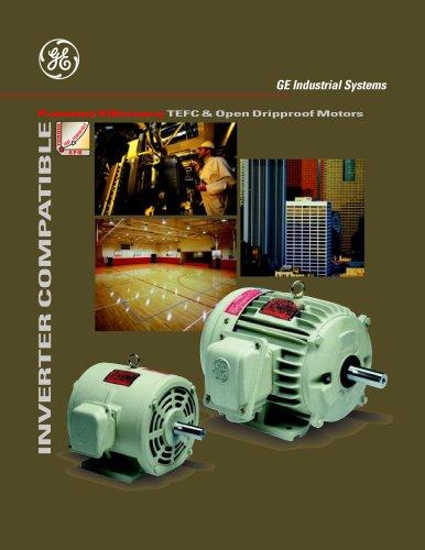 Premium Efficiency TEFC and Open Dripproof Inverter Duty