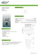 Poppet check valve MCV2-08-P series