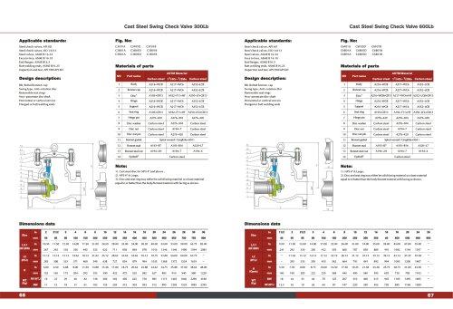 CAST STEEL SWING CHECK VALVE API6D 300-600#ASTM MATERIAL A216 A217 A352-KOSA VALVE