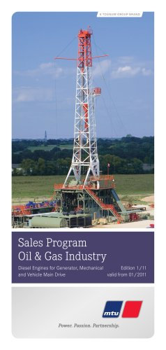 Sales Program Oil & Gas Industry - Generator Drive, Mechanical Drive