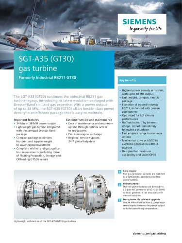 SGT-A35 (GT30) gas turbine