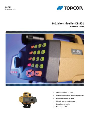 Präzisionsnivellier DL-501