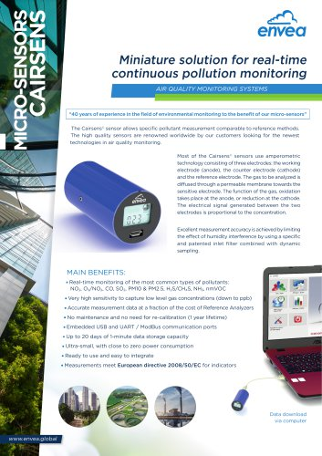 Cairsens - new generation of air quality & odors monitoring sensors