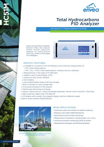 HC51M THC analyzer for air quality monitoring