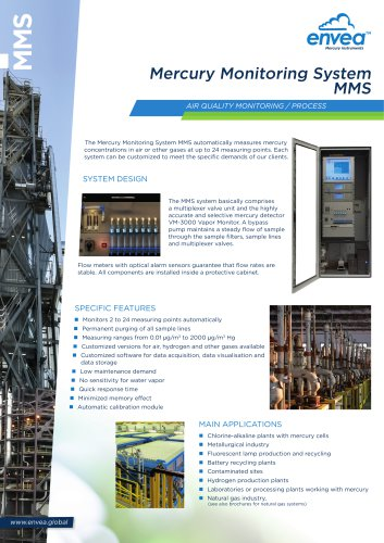 MMS Mercury Monitoring System - Air-quality & Process
