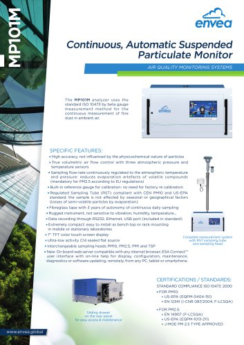 MP101M - PM10, PM2.5, TSP continuous particulate monitor