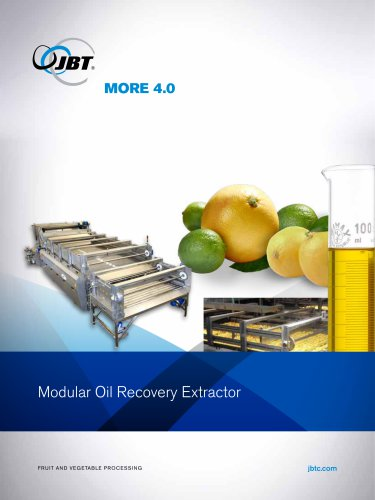 Citrus Oil Recovery Extractor