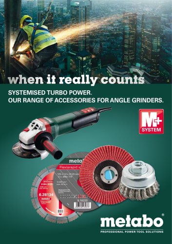 Metabo range of accessories for angle grinders brochure