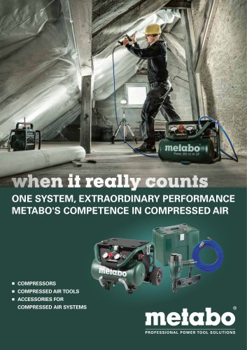 METABO'S COMPRESSED AIR SYSTEMS